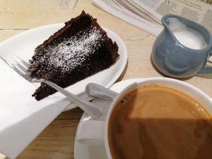 Chocolate cake Driftwood Cafe Emsworth