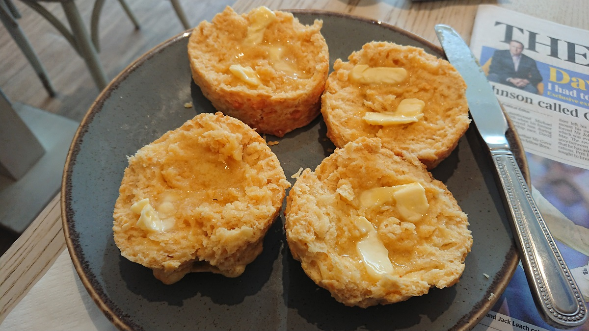 Delicious cheese scones Driftwood Cafe Emsworth